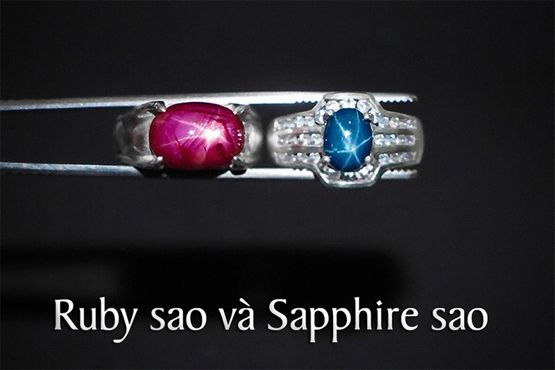 Đá Ruby sao và Sapphire sao