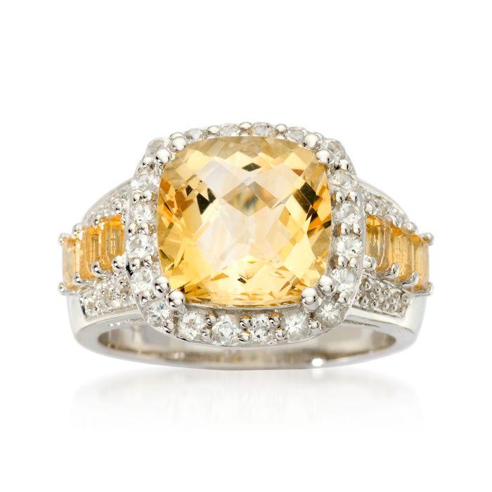 nhẫn đá citrine