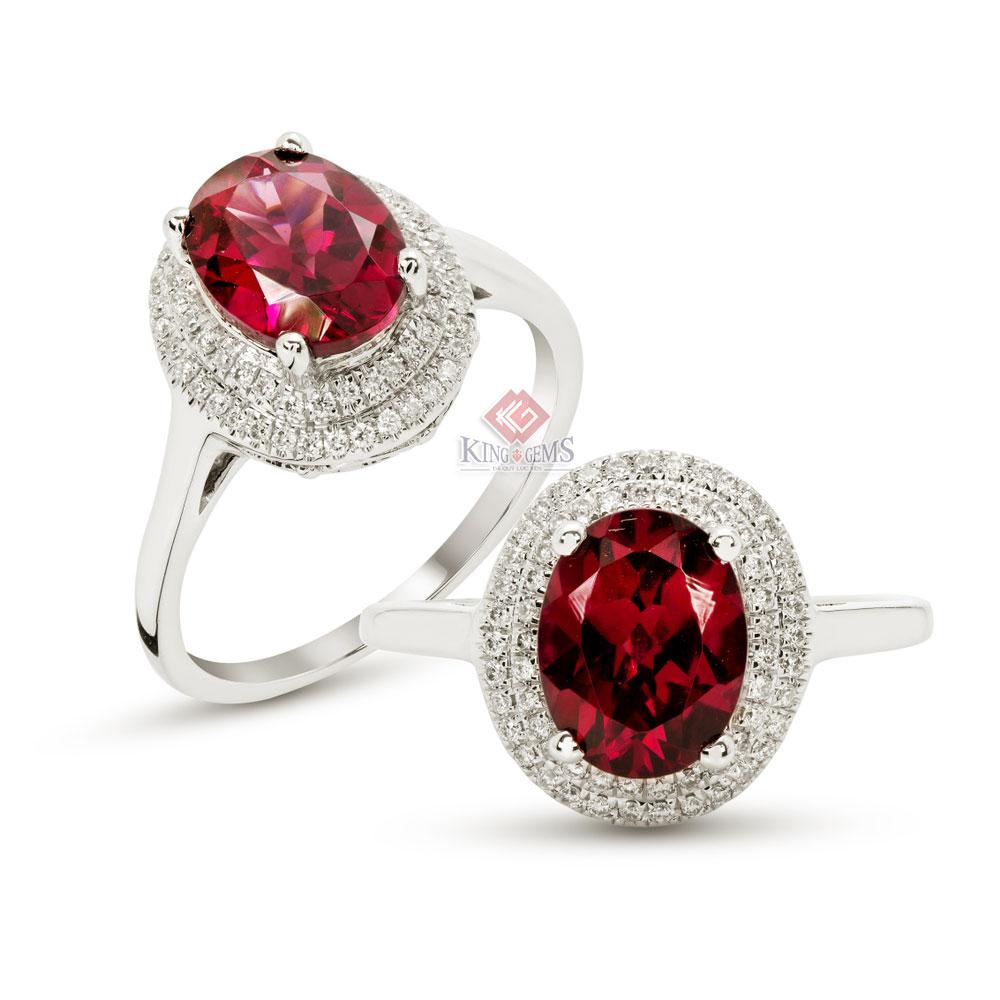 Nhẫn trang sức đá Garnet