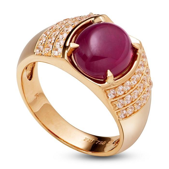 Nhẫn ruby nam là loại nhẫn được chế tạo từ kim loại quý